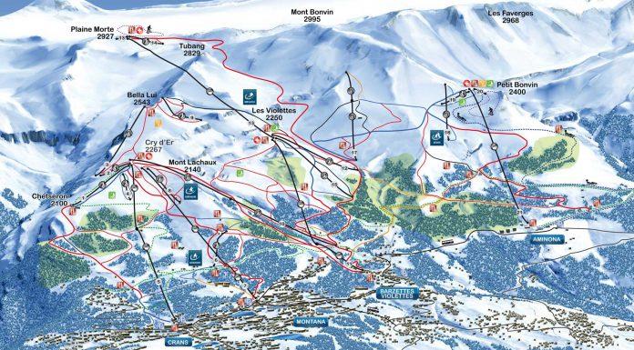 Crans-Montana Piste Plan Map