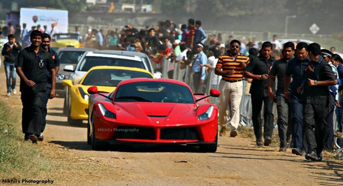 First LaFerrari in India Gets Celebrity-Like Attention!