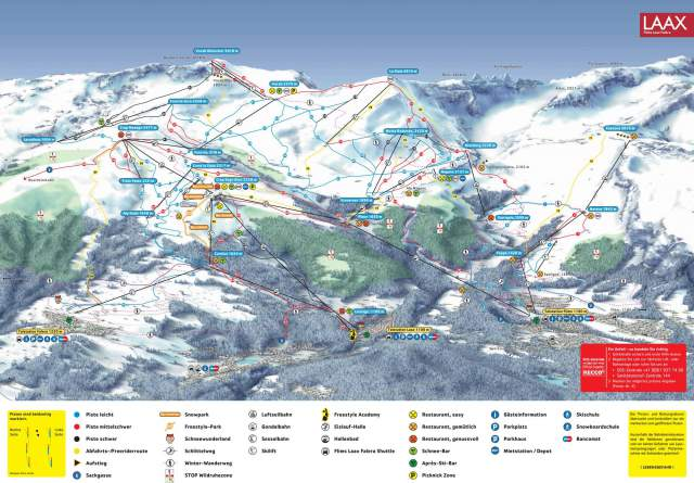 Flims-Laax-Valera Piste Plan Map