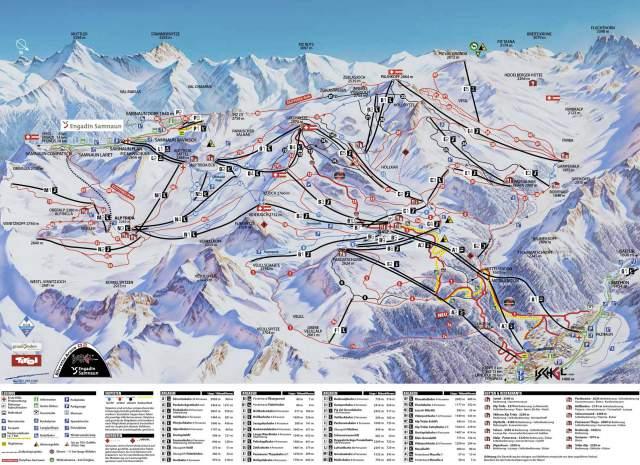 Ischgl Piste plan Map