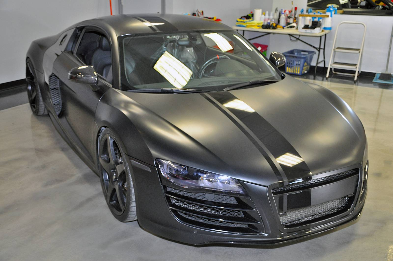 tuningcars evil 800hp matte black audi r8 by vf engineering. Black Bedroom Furniture Sets. Home Design Ideas