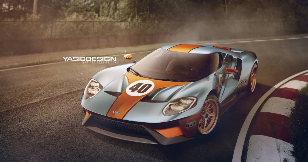Ford GT Gulf Edition Render
