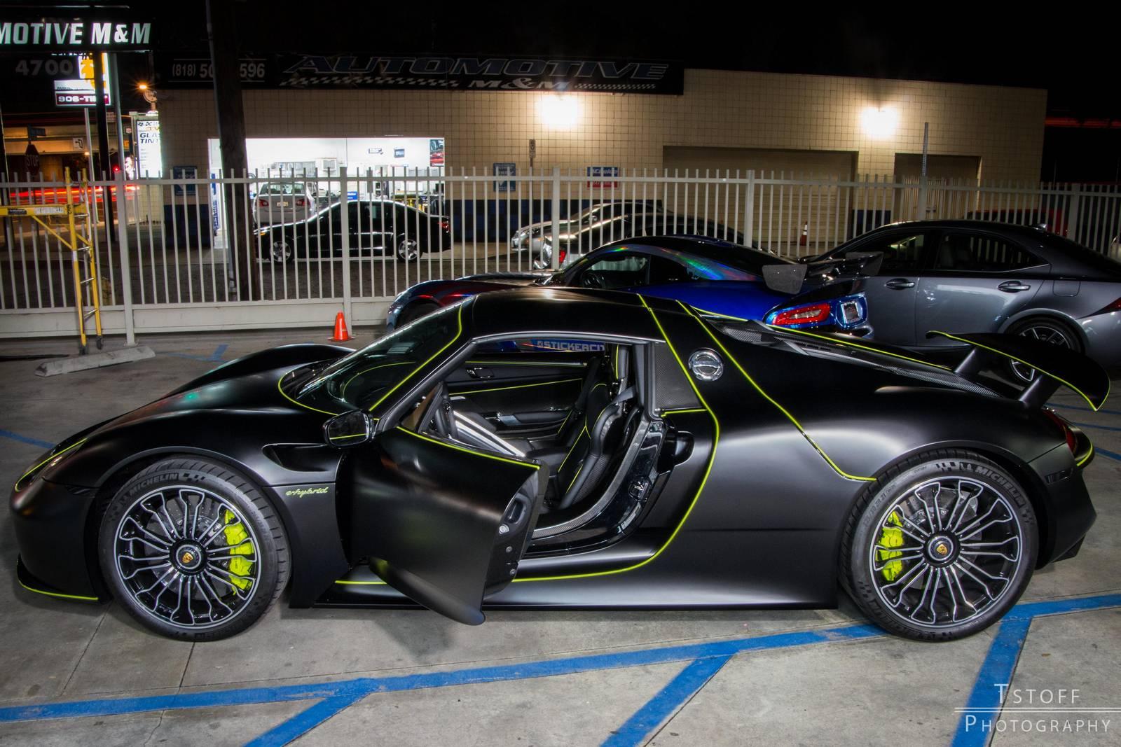 stealth black porsche 918 spyder - Porsche Spyder 918 Black