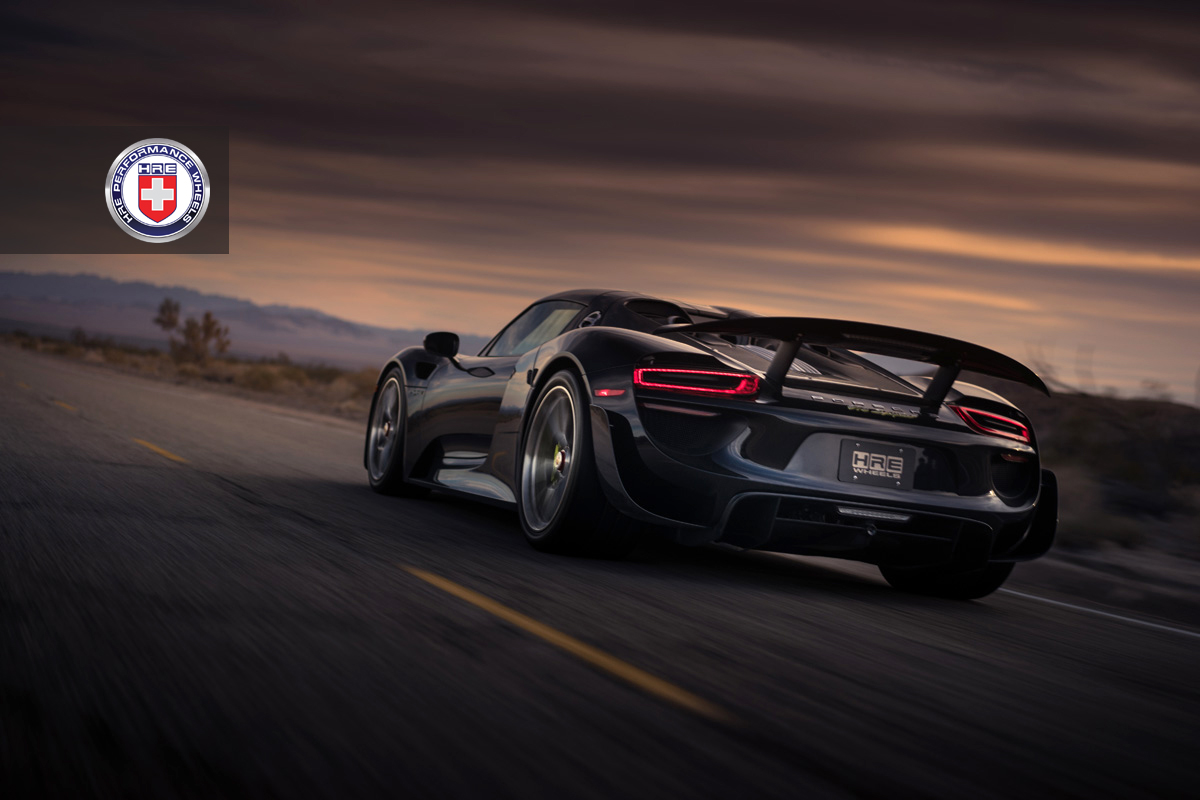 black porsche 918 spyder weissach adorned with hre wheels. Black Bedroom Furniture Sets. Home Design Ideas