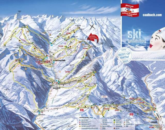 Saalbach-Hinterglemm Piste Plan Map