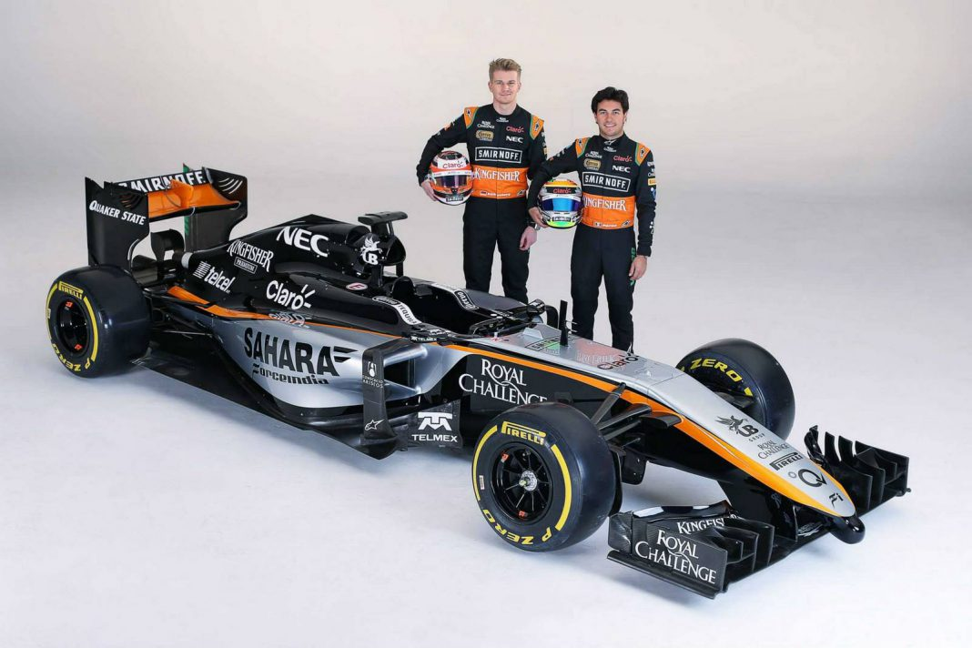 Force India Reveals New VMJ08 F1 Car in Mexico City