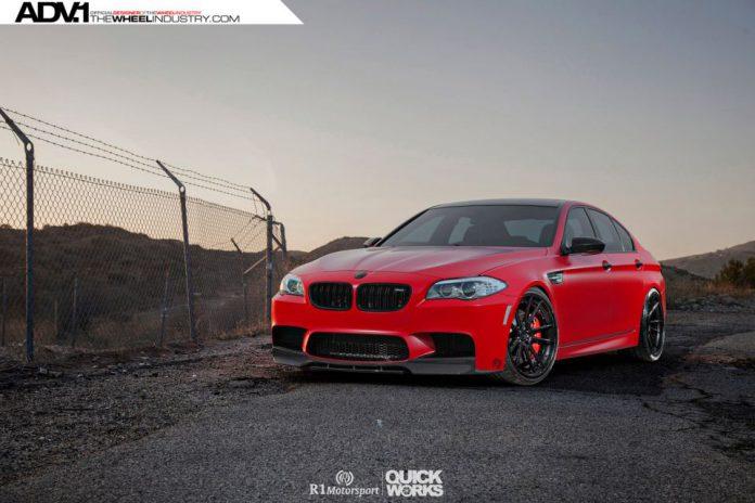 Satin Red BMW F10 M5 by R1 Motorsports
