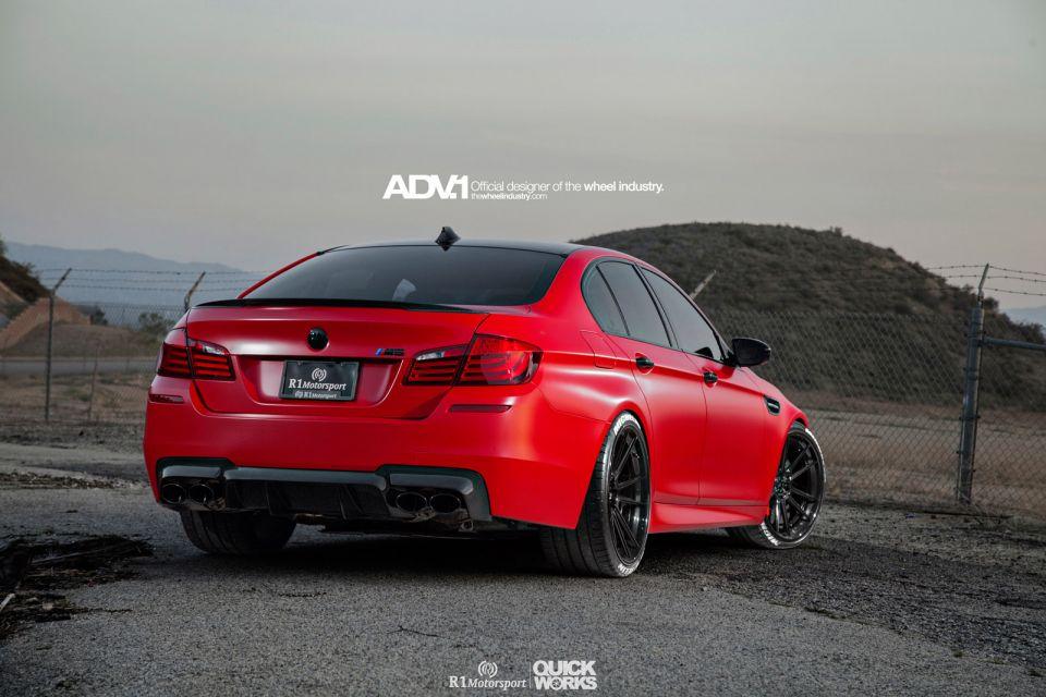 Satin Red BMW F10 M5 by R1 Motorsports - GTspirit