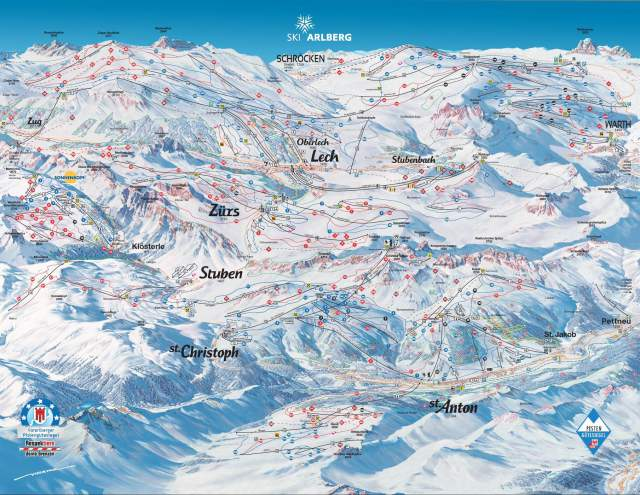 St Anton Lech Zurs Piste Plan Map
