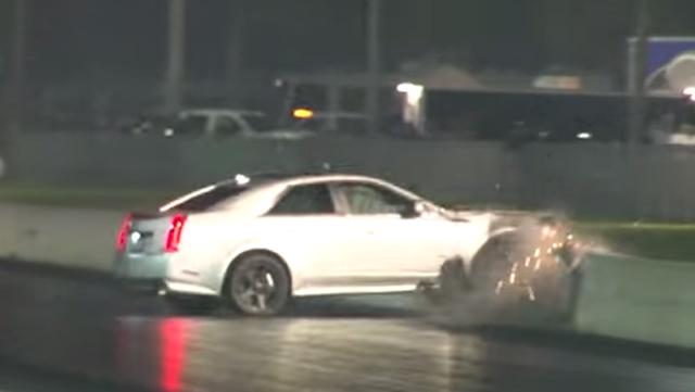 Video Cadillac Cts V Crashes During Drag Race Gtspirit