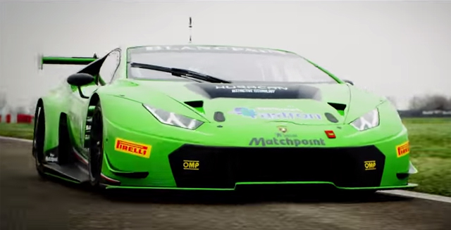 video lamborghini huracan gt3 on track gtspirit. Black Bedroom Furniture Sets. Home Design Ideas
