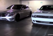 Dodge Challenger SRT Hellcat vs Mercedes-Benz S63 AMG