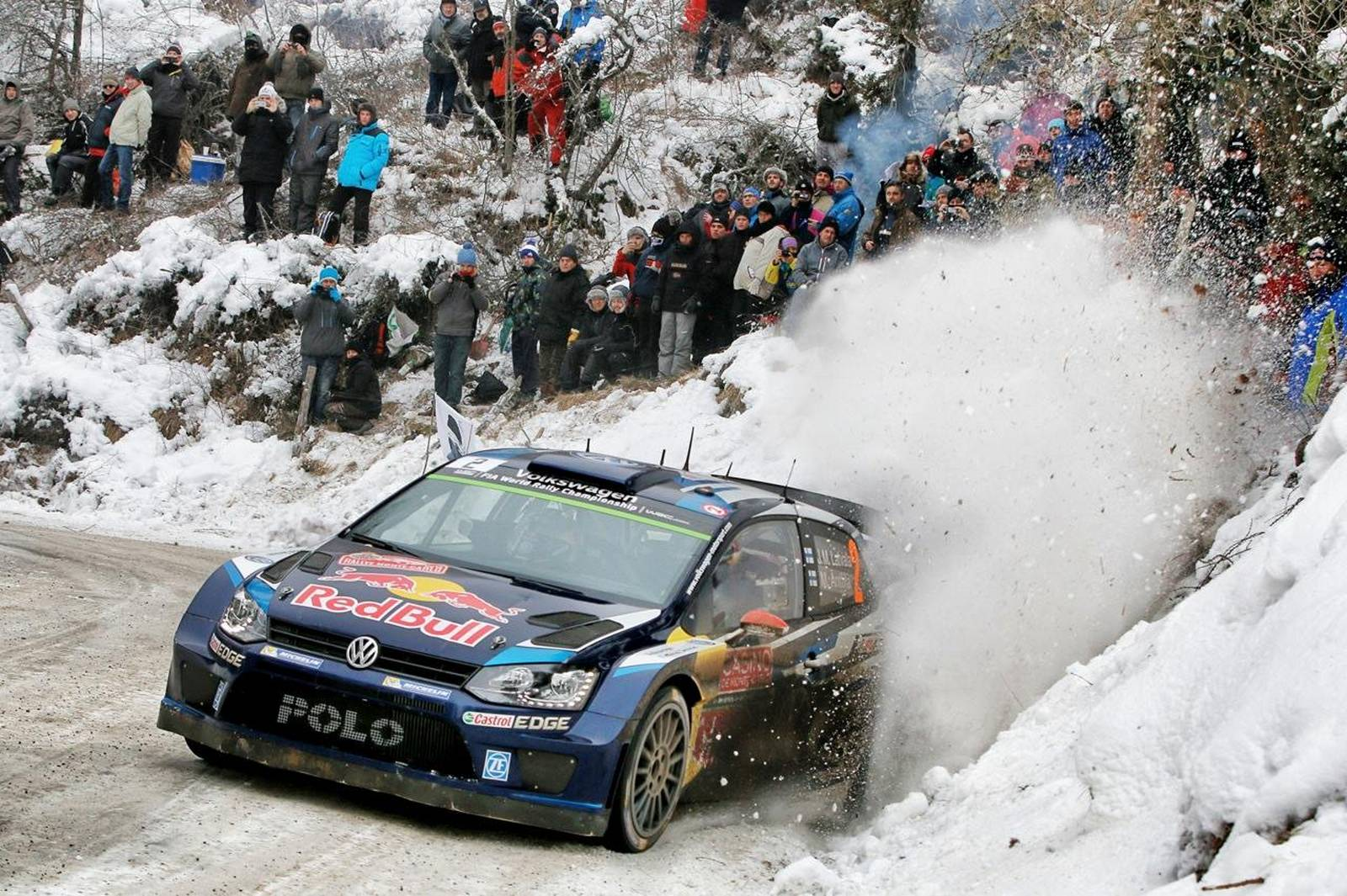 wrc vw dominates monte carlo rally with clean podium sweep gtspirit. Black Bedroom Furniture Sets. Home Design Ideas