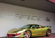 Ferrari 458 Italia 'Golden Shark' by Office-K
