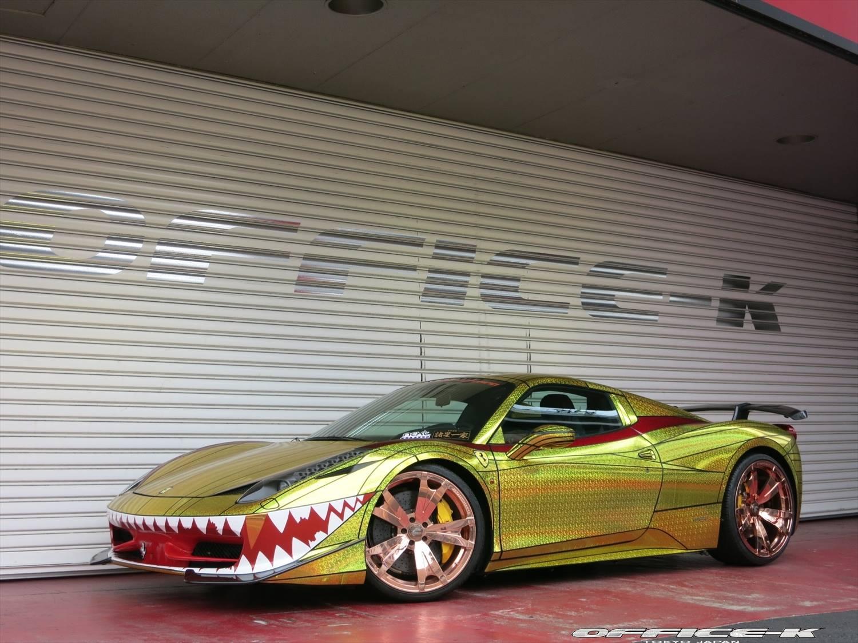 Overkill Ferrari 458 Italia Golden Shark By Office K Gtspirit