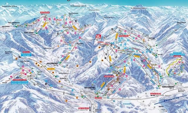 Kitzbuhel Piste Plan Map