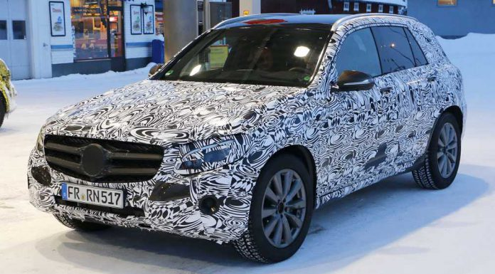 upcoming mercedes benz glc snapped under camo gtspirit. Black Bedroom Furniture Sets. Home Design Ideas