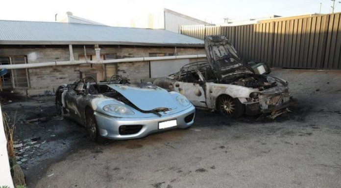 Arsonists Burn Down Ferrari 360 and Maserati Spyder in Australia