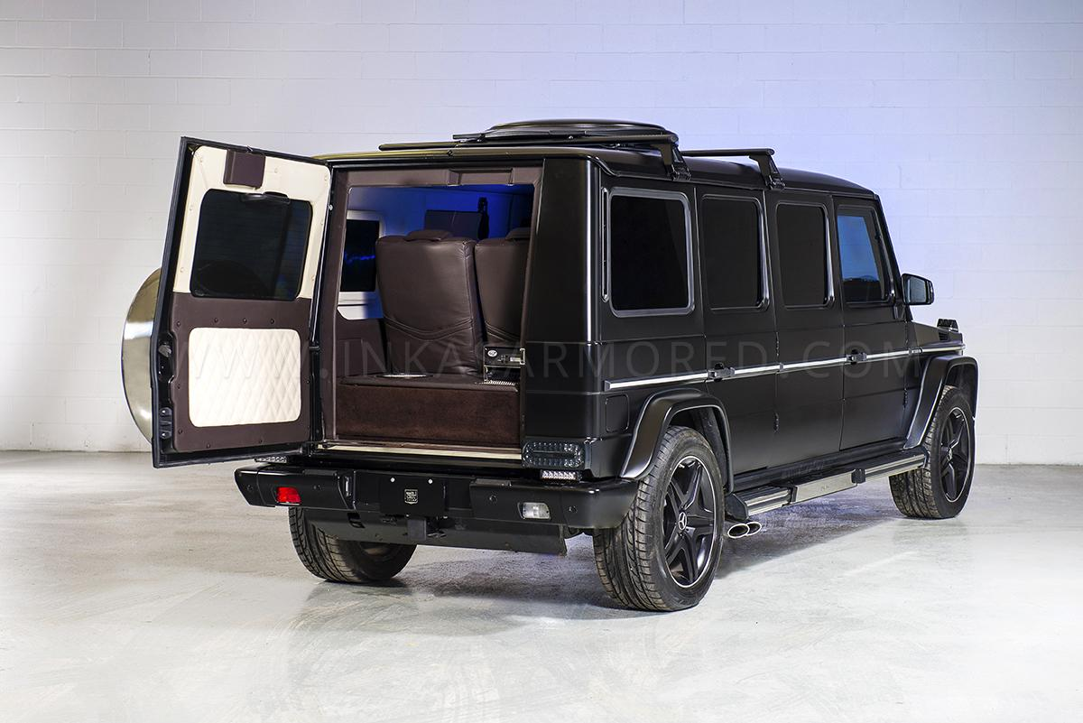Official inkas stretched mercedes benz g63 amg gtspirit for Mercedes benz utility vehicle