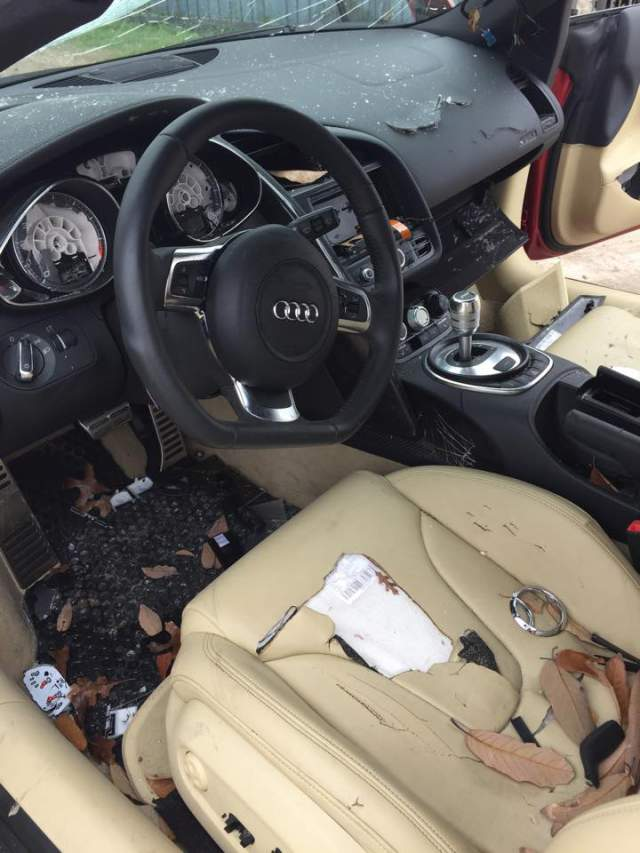 Angry Wife Smashes Husband's Audi R8