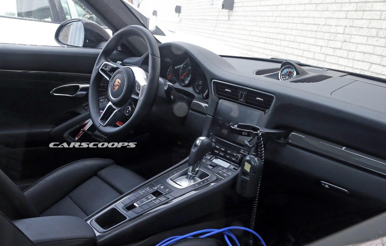 Interior Of Facelifted Porsche 911 Spied Gtspirit
