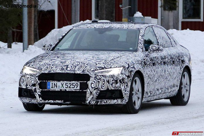 Next Generation Audi A4 Spied Up-close