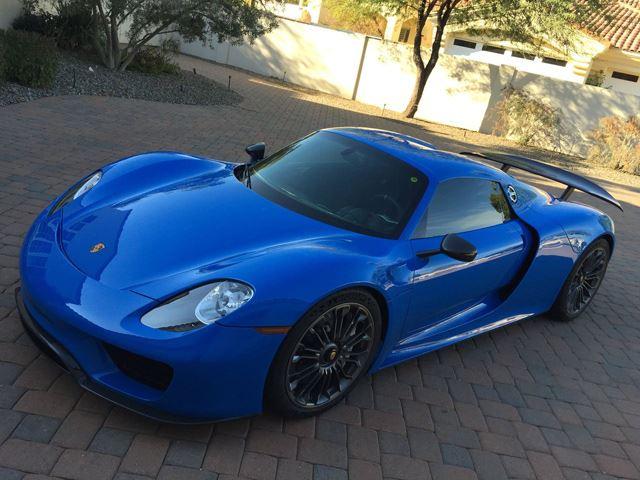 One of a Kind Porsche 918 Spyder Voodoo Blue For Sale On eBay