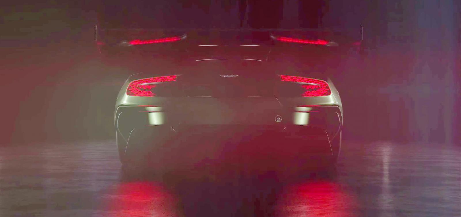 Video Aston S Vulcan Shows Big Rear Wing In Geneva Teaser Gtspirit