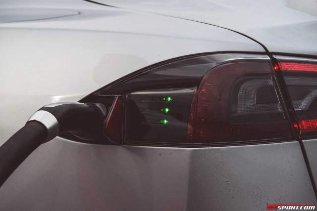 Charging the Tesla S is clean, easy and free at the free supercharger stations