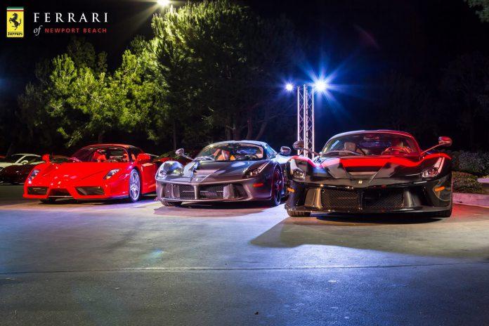 LaFerrari Duo Rocks Ferrari Newport Beach Dinner Party