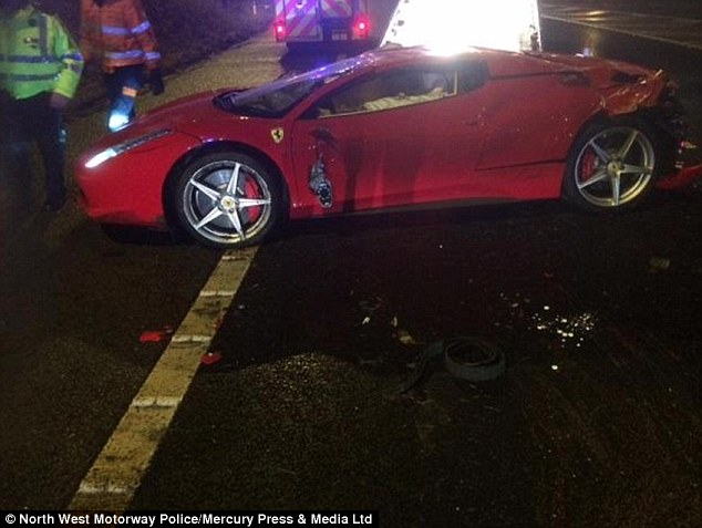 41-Year Old Flips Ferrari 458 in High Speed Crash and Walks Away