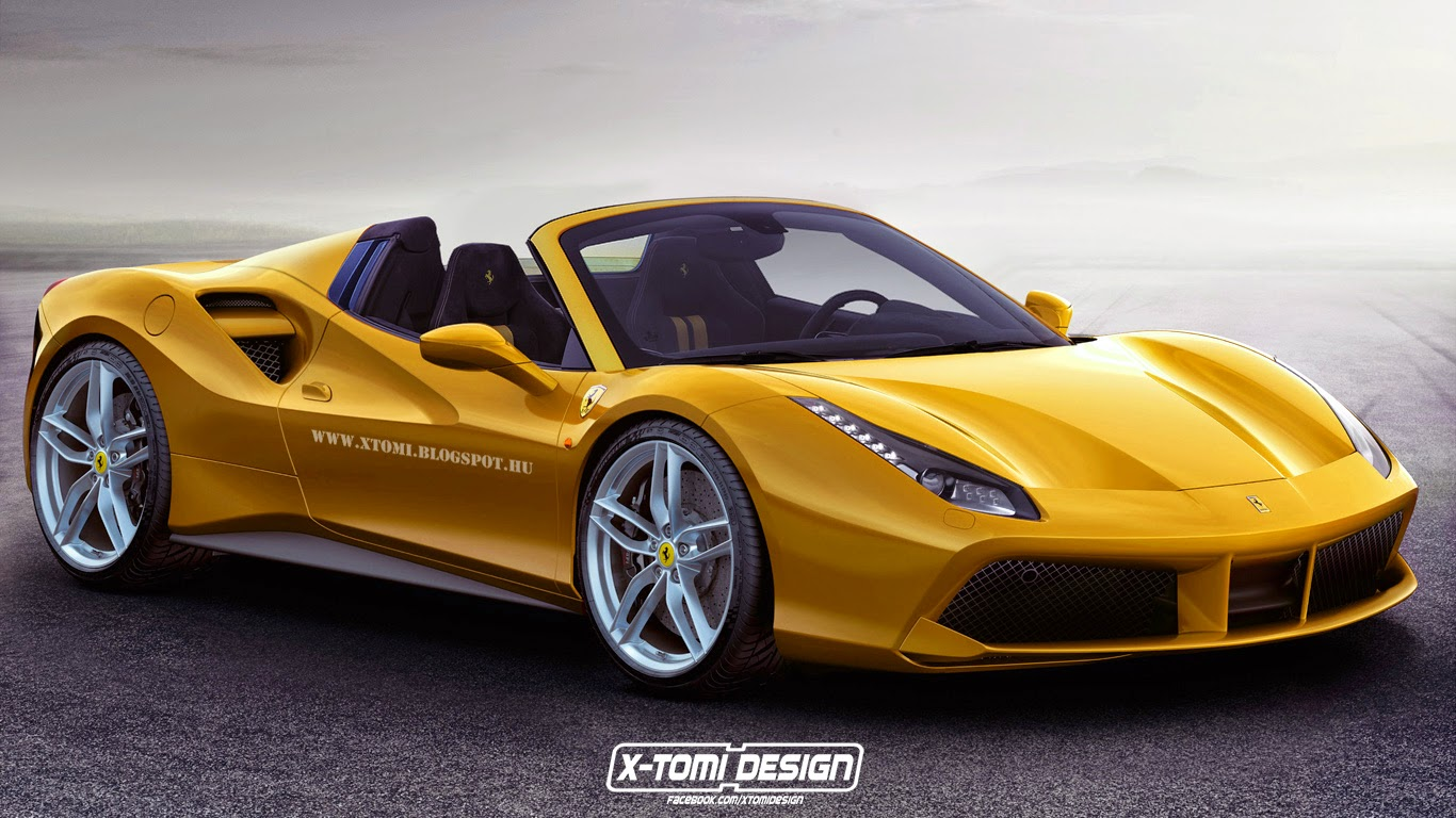 impending ferrari 488 gtb spider imagined gtspirit. Black Bedroom Furniture Sets. Home Design Ideas