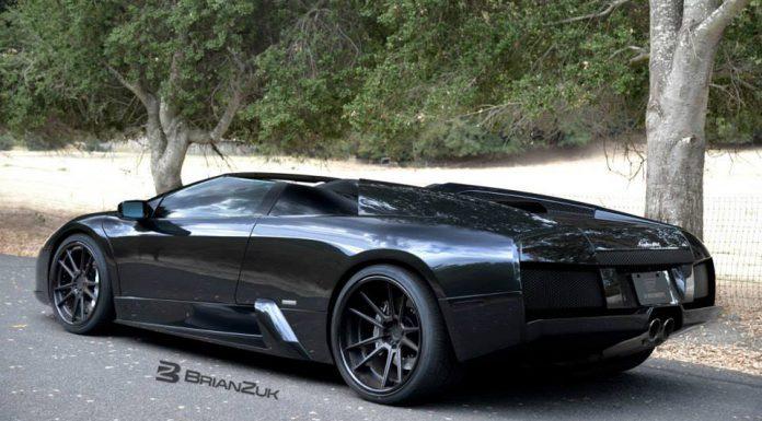 Black-on-Black Lamborghini Murcielago with ADV.1 Wheels