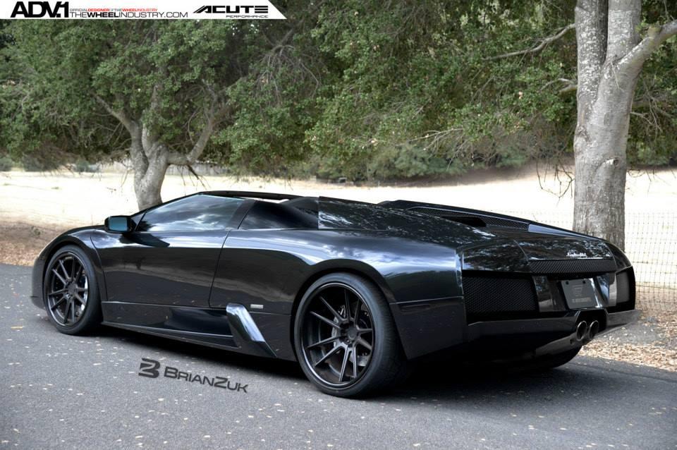 Black On Black Lamborghini Murcielago Roadster With Adv 1 Wheels
