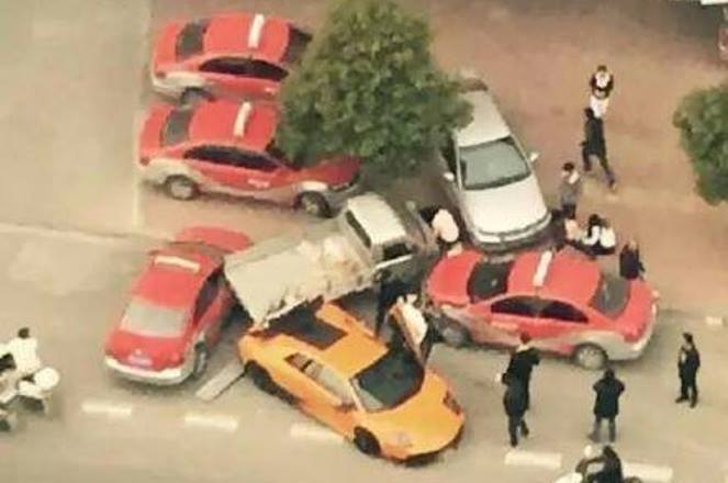 Lamborghini Murcielago SV Wrecked in China