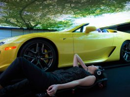 Mysterious Lexus LFA Roadster at Media Ambition Tokyo 2015