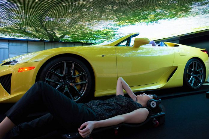 Mysterious Lexus LFA Roadster at Media Ambition Tokyo 2015