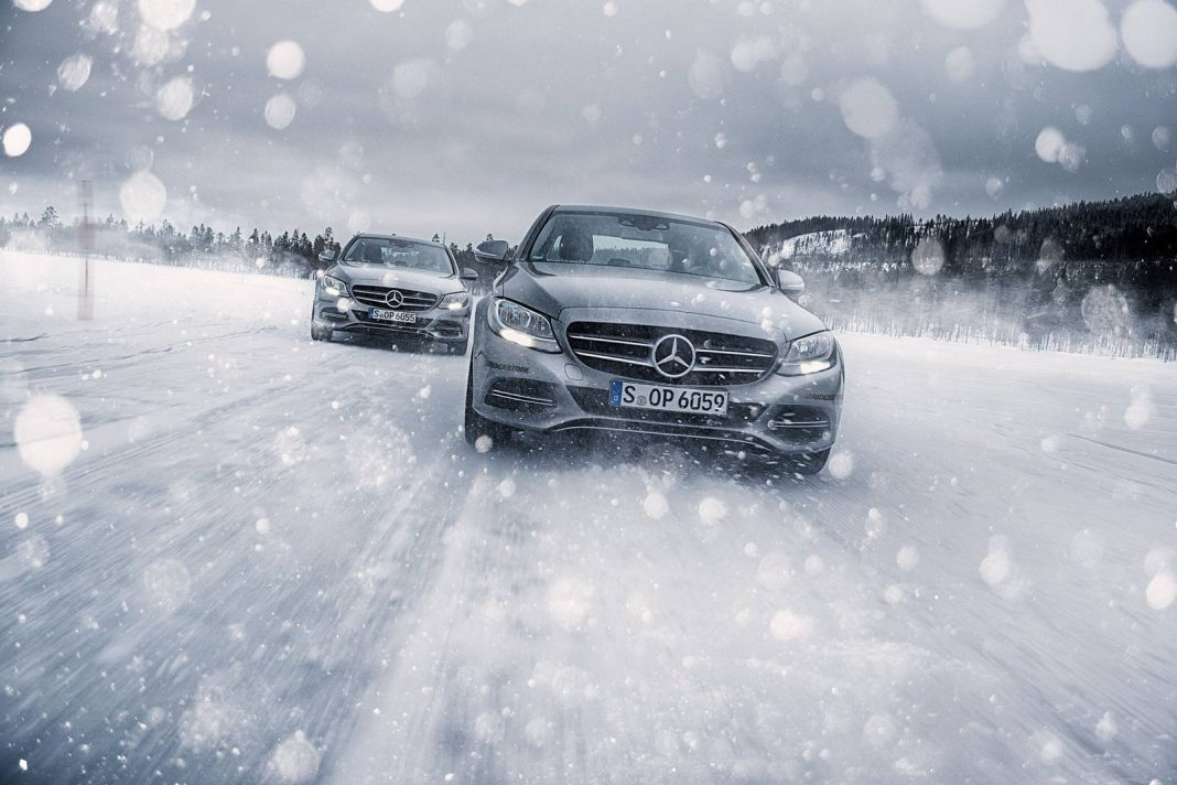 Mercedes-Benz Driving Events Kick Off to an Icy Start