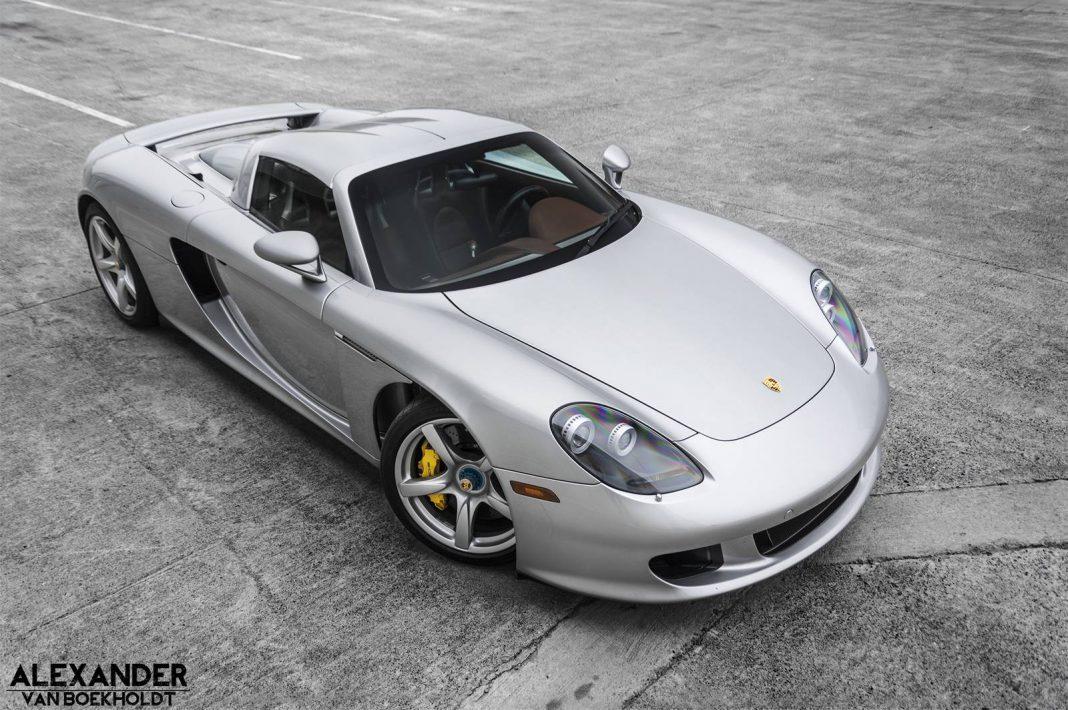Amazing Silver Porsche Carrera GT with Cocoa Interior