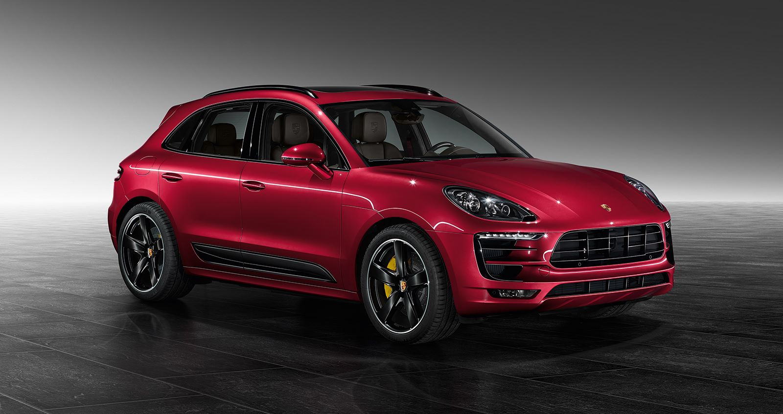 metallic red porsche macan turbo by porsche exclusive gtspirit. Black Bedroom Furniture Sets. Home Design Ideas