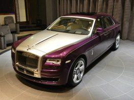 Purple Silk Metallic Rolls-Royce Ghost Series II in Abu Dhabi