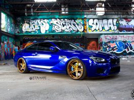Santorini Blue BMW M6 with Brushed Bronze Strasse Wheels