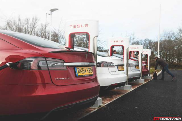 Tesla Model S Charging stations at Maidstone
