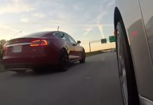 Video thumbnail for youtube video Video: Tesla Model S P85D vs Porsche 911 Turbo S