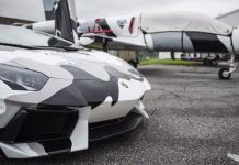 Camo Lamborghini Aventador
