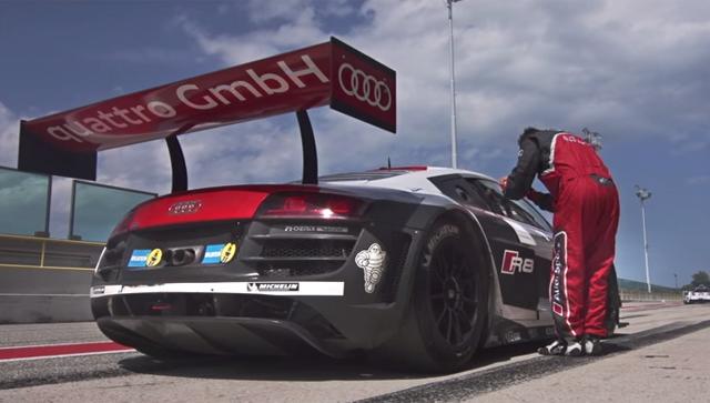 Video thumbnail for youtube video Video: Evo Drives Nurburgring Winning Audi R8 GT3