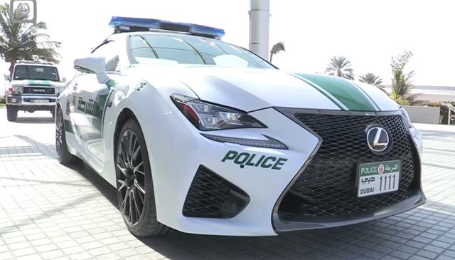 Dubai Police Pick Up Lexus Rc F Gtspirit