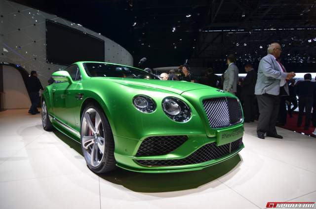 Bentley Continental GT Facelift at the Geneva Motor Show 2015