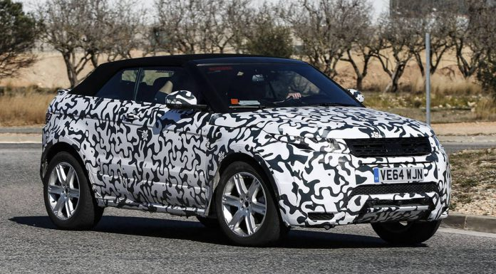 Range Rover Evoque Convertible Spy Shots