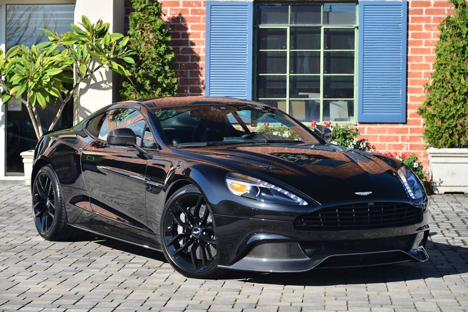 aston martin vanquish blacked out. aston martin vanquish carbon black edition for sale in beverly hills blacked out n